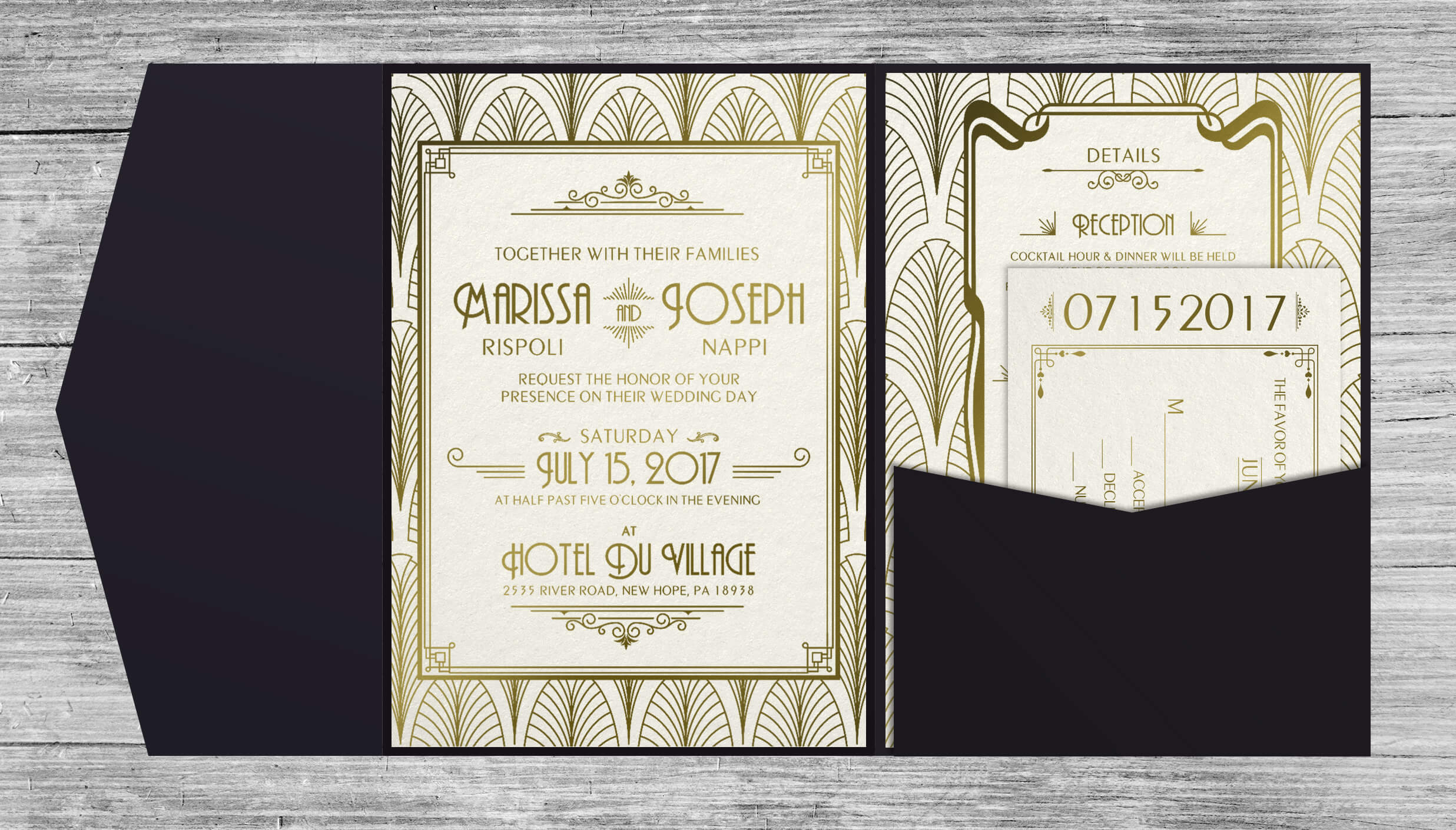 Art Deco Invitations - Inside