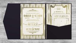 Art Deco Invitations - Inside