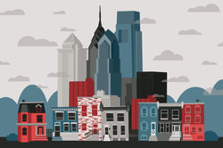 Philadelphia Neighborhood Skyline