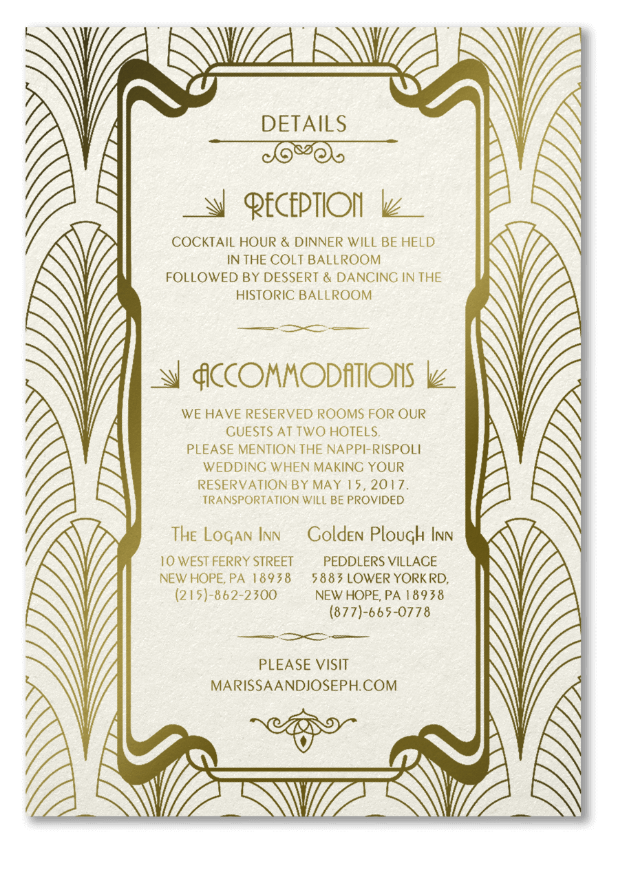 Art Deco Invitations - Details