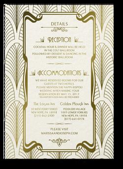 Art Deco Invitations - Details
