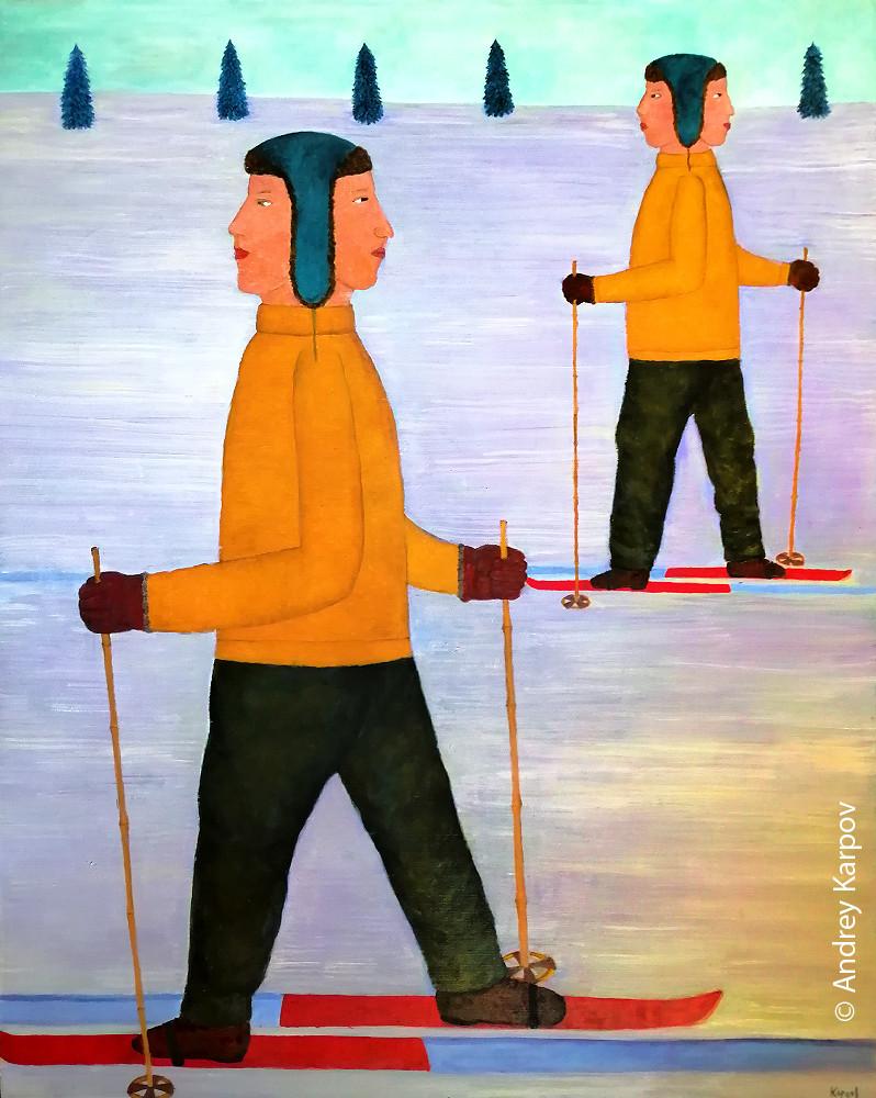 Андрей Карпов. Лыжники