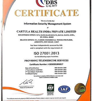 Cartula India ISO - Information Security
