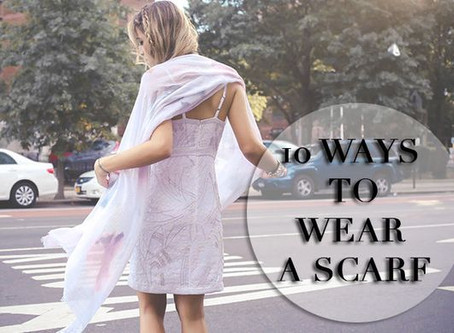 10 Ways to Wear a Scarf - {10 Modi per Indossare una Sciarpa}