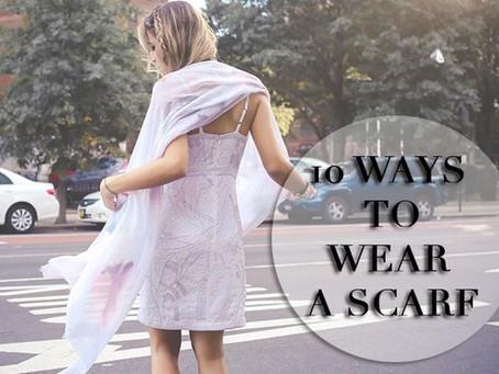 10 Ways to Wear a Scarf - {10 Modi per Indossare una Sciarpa}