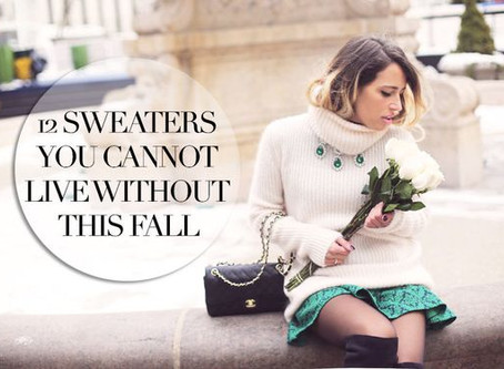 12 Sweaters You Cannot Live Without {12 Maglioni Must-Have}