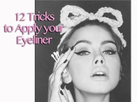 12 Tricks To Apply Eyeliner {12 Trucchetti per Applicare l'Eyeliner}