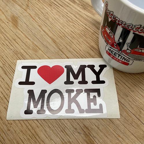 I Love My Moke Sticker