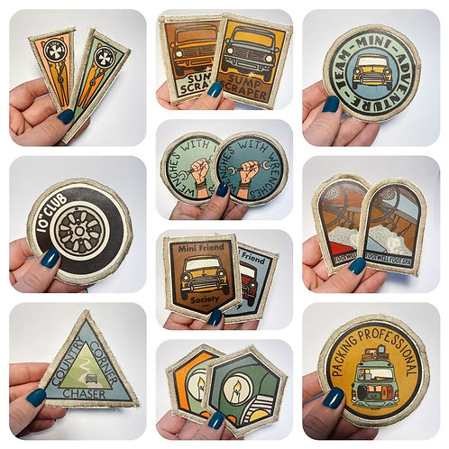 Classic Mini Scout Fabric Patches - Sew On