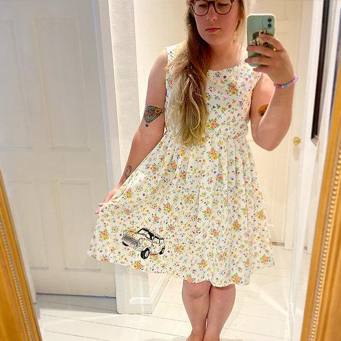 Vintage fabric mini summerdress