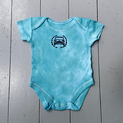 Terquious tie dyed baby grow 9-12 months