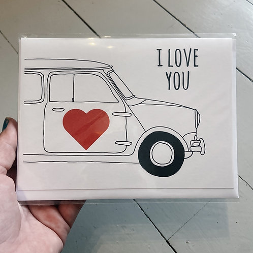 I love you mini card