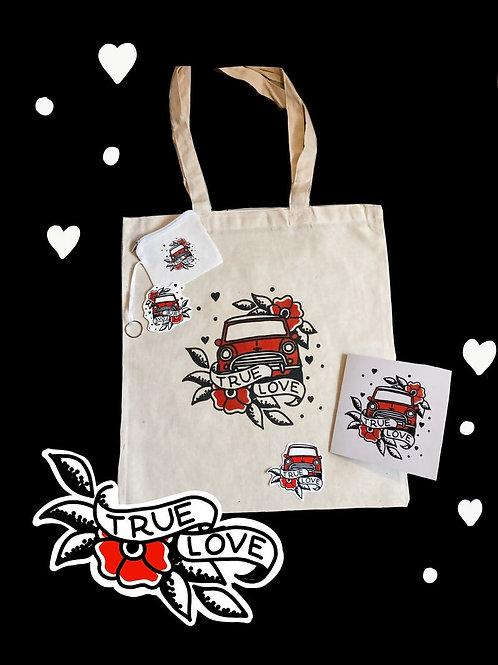 True Love Bag & Tattoo Set