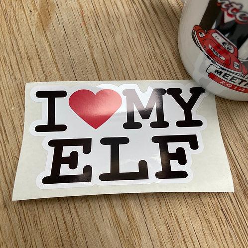 I Love My Elf Sticker