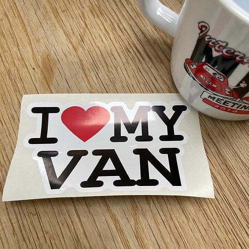 I Love My Van Sticker