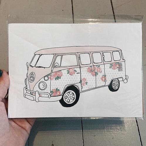 A5 campervan print.