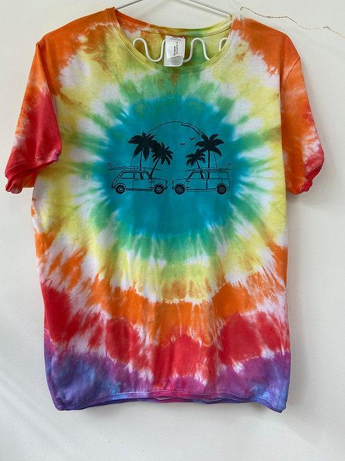 Tie dye T-shirt unisex Large