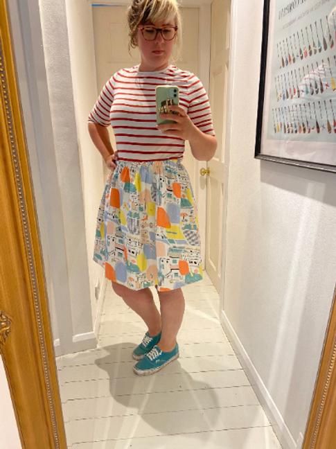 Handmade Vintage Fabric Skirt