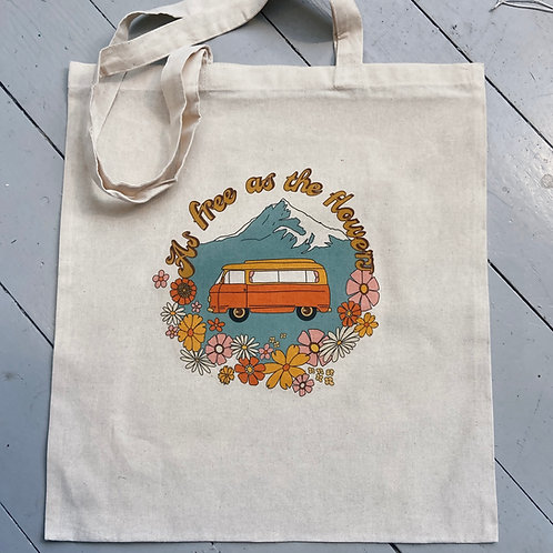 As free as the flowers tote bag
