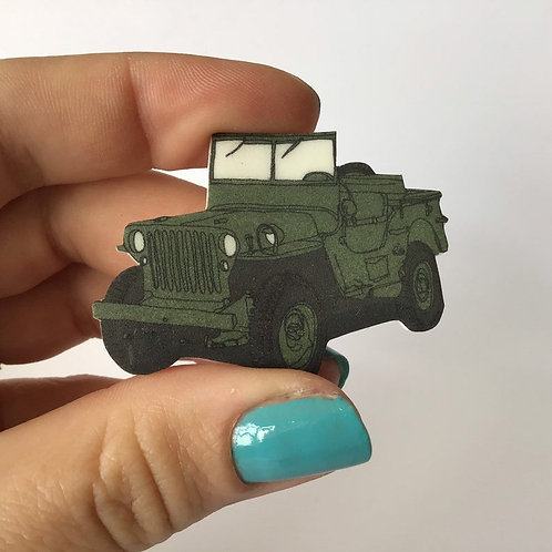 Ford Willis Jeep 1940's Brooch