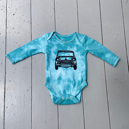 0-3 months tie dyed longsleeved baby grow