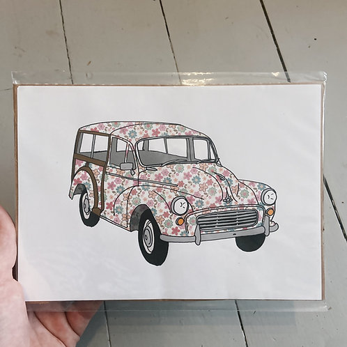 A5 floral morris traveler print.