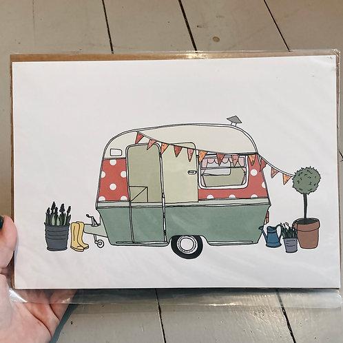A4 caravan print.