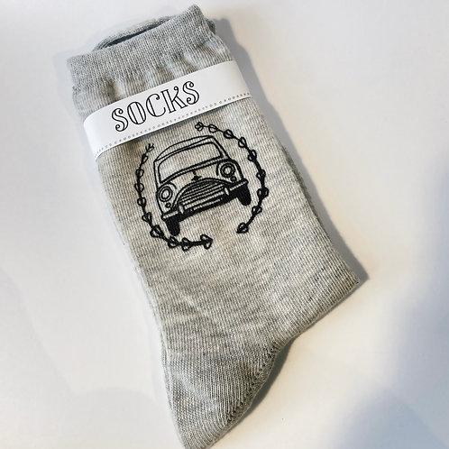 Sale, Ladies Silk Screen Printed Mini Cooper Socks