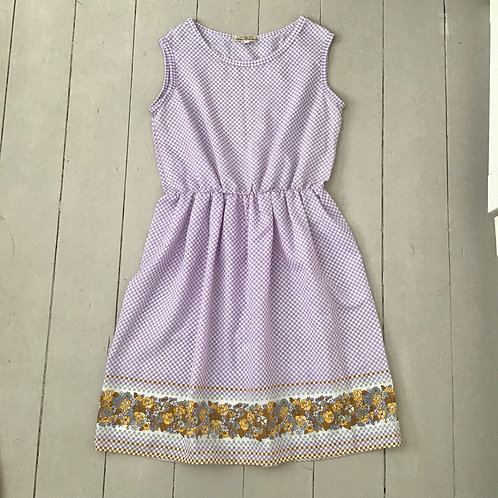 lilac vintage fabric summer dress