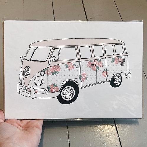A4 campervan print.