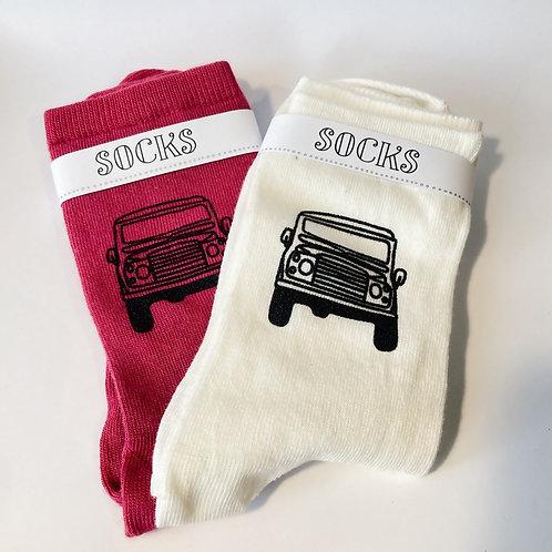 Ladies Silk Screen Printed Landy Socks