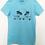 Thumbnail: Blue Classic mini surf beach print T-shirt women