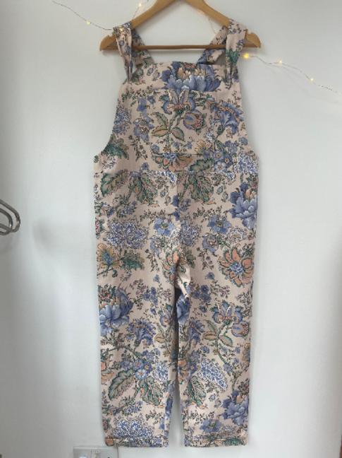 Handmade Vintage Fabric Dungarees