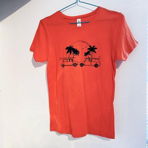 Coral Classic mini surf beach print T-shirt women