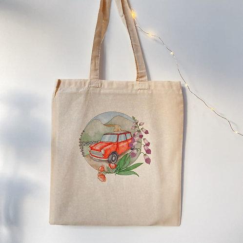 Classic Mini Wild Flower Print Tote Bag