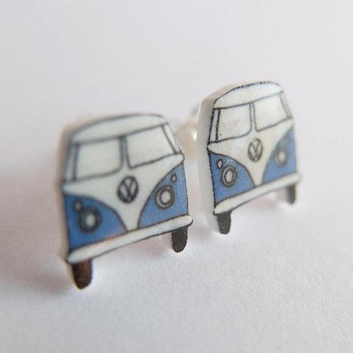 VW Split Screen Campervan Stud Earrings in 8 Colours