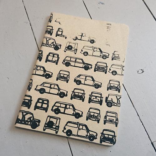 Screen printed mini A5 notebook