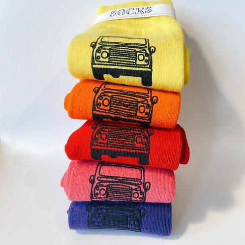 Mens Silk Screen Printed landy Socks in fantastic colours