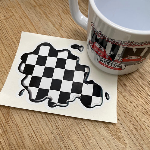 Checkered Flag Splat Sticker