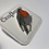 Thumbnail: Hand Drawn Plastic Robin Brooch