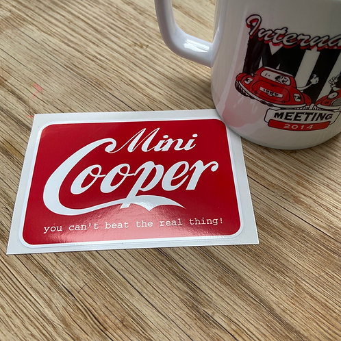 Mini Cooper Cola Sticker
