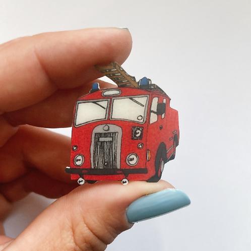 Dennis Vintage Fire Engine Brooch/Pin