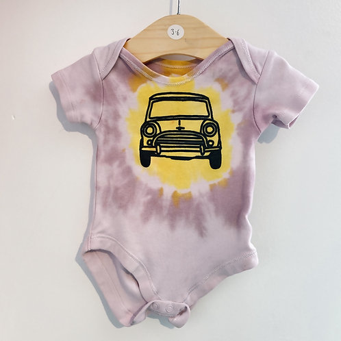 Tie dye baby body suit 3-6 months short sleeved