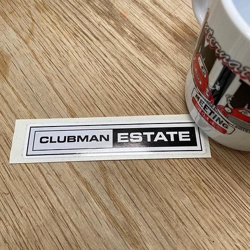 Clubman Estate Sticker