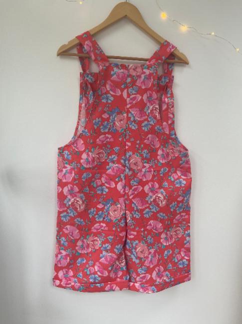 Handmade Vintage Fabric Dungaree Shorts