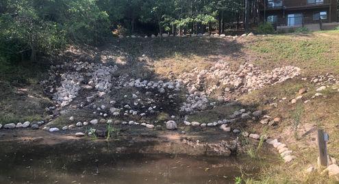 Retaining Wall w/ 3+ Small Waterfalls