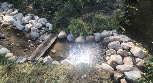 Small Pond Dam to Raise Water Level