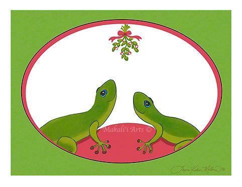 Mo'o Mistletoe Christmas Card