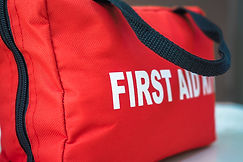 First Aid Kit_A red first aid kit bag wi