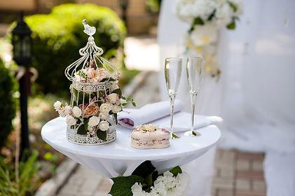 Fine tea at luxury wedding venue